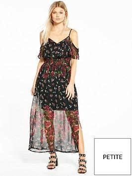 ri-petite-petite-frill-maxi-dress-floralnbspprint