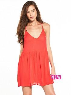 river-island-coral-ring-back-cami-dress
