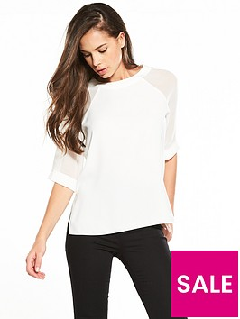 river-island-river-island-white-tee-with-sheer-sleeves