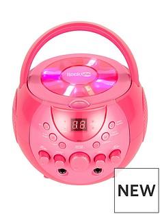 rockjam-rockjam-rj088bt-bluetooth-karaoke-with-3-cdgs-and-2-microphones-pink