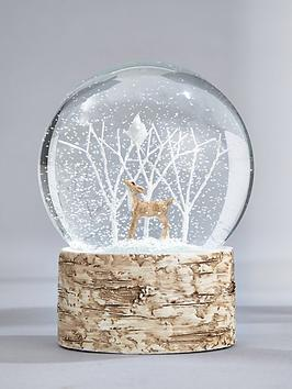 gisela-graham-woodland-scene-snow-globe-christmas-decoration