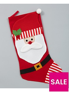 gisela-graham-santa-fabric-christmas-stocking