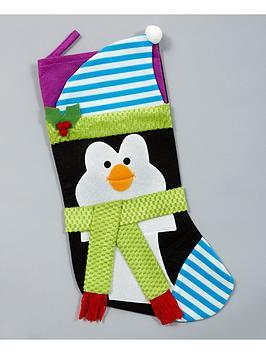 gisela-graham-penguin-fabric-christmas-stocking