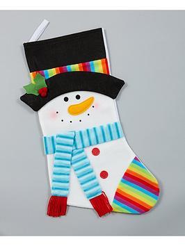 gisela-graham-fabric-snowman-christmas-stocking