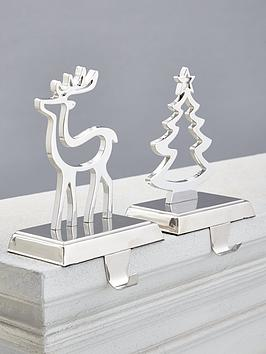 gisela-graham-set-of-2-nickel-plated-stocking-hangers