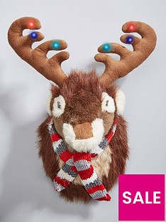 gisela-graham-fur-fabric-reindeer-head-with-lights-amp-music