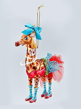 gisela-graham-painted-glass-giraffe-christmas-tree-decoration