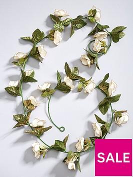 gisela-graham-fabric-rose-christmas-garland