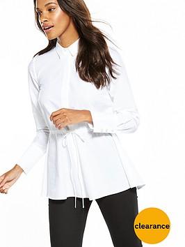v-by-very-pearl-cuff-drawstring-shirt