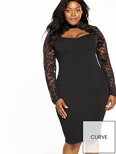 ax-paris-curve-lace-sweetheart-neck-bodycon-dress-black