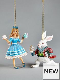 gisela-graham-gisela-2-pack-alice-in-wonderland-tree-decs-alicerabbit