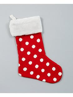 gisela-graham-knitted-spotty-christmas-stocking