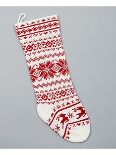 gisela-graham-scandi-knitted-christmas-stocking