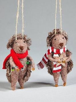 gisela-graham-wool-hedgehog-hanging-christmas-treenbspdecorations-2-pack