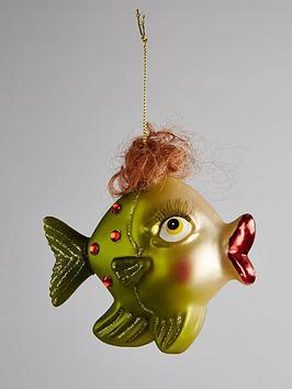 gisela-graham-painted-glass-fish-hanging-christmas-tree-decoration-green