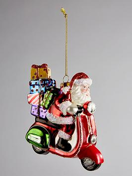 gisela-graham-painted-glass-santa-on-scooter