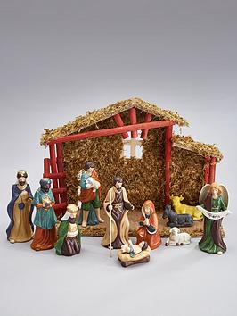 gisela-graham-ceramic-nativity-scene-set-13-piece