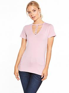 v-by-very-eyelet-choker-t-shirt