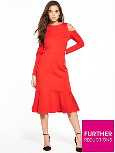 closet-cold-shoulder-long-sleeve-dress