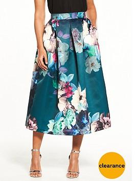 closet-nbspcloset-floral-full-midi-skirt