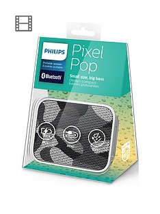 Philips Splash-Proof Wireless Portable Bluetooth Speaker (white)