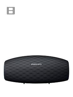 Philips Wireless Portable Speaker BT6900B-10W, Long BluetoothRange, Waterproof, 10-Hour Battery, Quick Charge (Black)