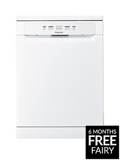 Hotpoint HFC2B19 13-Place Full Size Dishwasher with Quick Wash - White