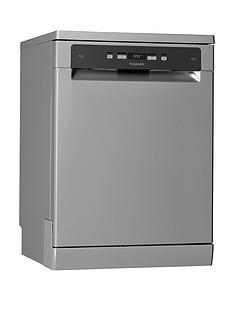 Hotpoint Ecotech HFC3C26WSV Full Size 14-Place Dishwasher - Silver
