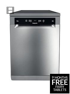 hotpoint-ecotech-hfc3c26wsv-full-size-14-place-dishwasher-silver