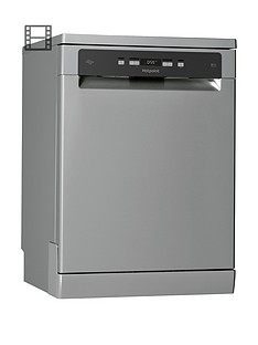 hotpoint-hfc3c26wcxukn-full-size-14-place-dishwasher-with-quick-wash-and-3d-zone-wash-silver