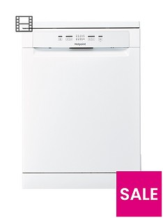 Hotpoint Aquarius+ HFC2B+26C Full Size 14 Place Dishwasher - White Best Price, Cheapest Prices