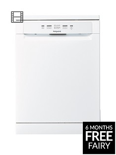 Hotpoint HFC2B+26C Full Size 14 Place Dishwasher with Quick Wash - White