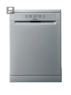 Hotpoint Aquarius HFC2B19SV 13-Place Full Size Dishwasher - Silver Best Price, Cheapest Prices