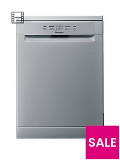 Hotpoint Aquarius HFC2B19SV13-Place Full Size Dishwasher -Silver/Grey Best Price, Cheapest Prices
