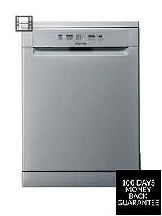 Hotpoint HFC2B19SV 13-Place Full Size Dishwasher with Quick Wash - Silver/Grey