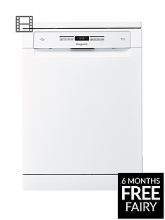 Hotpoint Ultima HFO3P23WL15-Place Full Size Dishwasher - White Best Price, Cheapest Prices