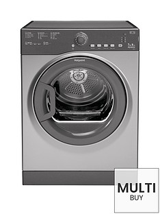 hotpoint-aquarius-tvfs73bgg9-7kg-vented-sensor-tumble-dryer-graphite