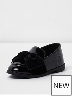 river-island-river-island-mini-girls-patent-loafer-bow-detail