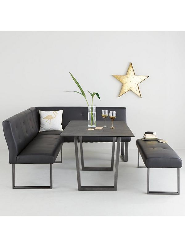 Peachy Chicago 160 Cm Glass Top Dining Table With Sofa And Bench Interior Design Ideas Gentotthenellocom
