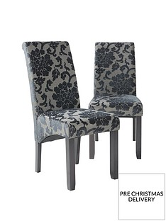 pair-of-oxford-fabric-dining-chairs-black