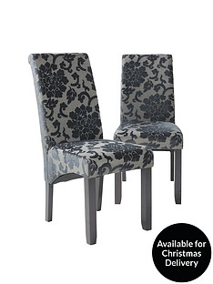 pair-of-oxford-fabric-dining-chairs
