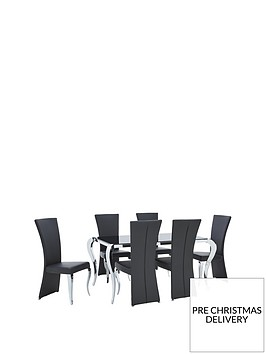 boutique-163-cm-dining-table-6-chairsnbsparrives-in-one-delivery