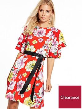 v-by-very-jersey-floral-ribbon-tie-dress