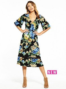 v-by-very-jersey-crochet-trim-floral-midi-dress