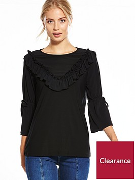 v-by-very-jersey-ruffle-tie-sleeve-top