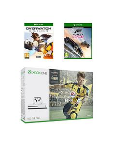 xbox-one-s-500gb-console-with-fifa-17-overwatch-and-forza-horizon-3-plus-12-months-live-subscription-and-extra-controller