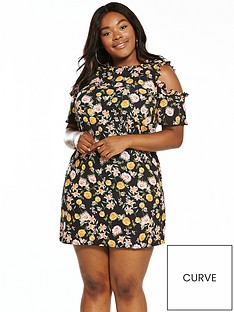 girls-on-film-curve-cold-shoulder-printed-floral-shift-dress