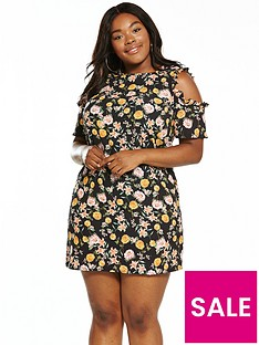 girls-on-film-curve-cold-shoulder-printed-floral-shift-dress