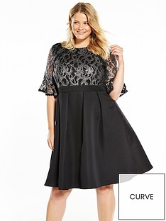 little-mistress-curve-baroque-lace-skater-dress-black