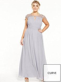 little-mistress-curve-cap-sleeve-maxi-dress-grey